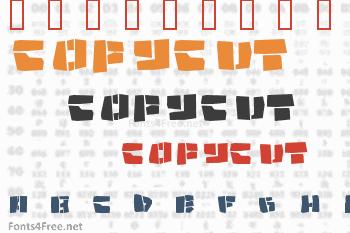 Copycut Font