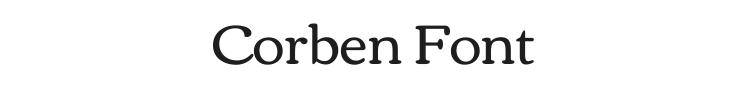 Corben Font Preview