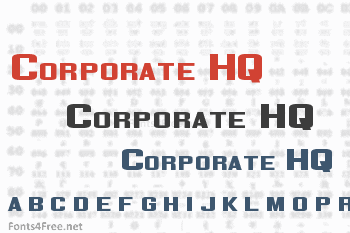 Corporate HQ Font