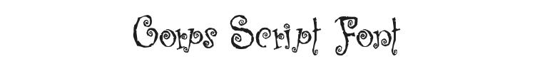 Corps Script Font Preview