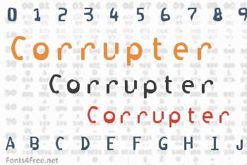 Corrupter Font