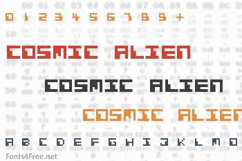 Cosmic Alien Font