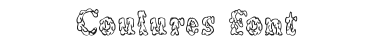 Coulures Font Preview
