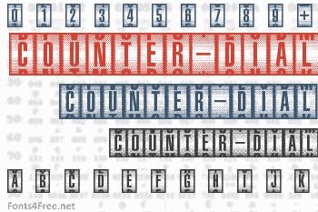 Counter-Dial Font