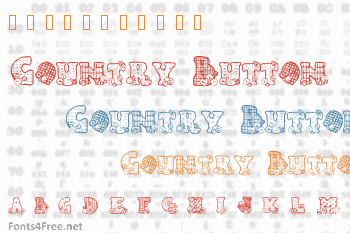 Country Button Font