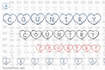 Country Hearts Font