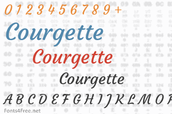 Courgette Font