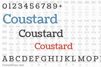 Coustard Font