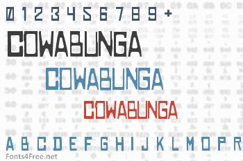 Cowabunga Font