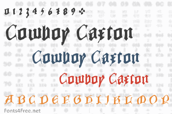 Cowboy Caxton Font