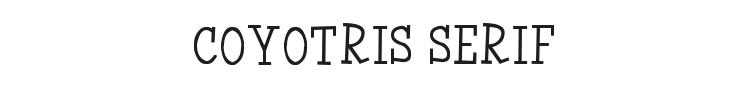 Coyotris Serif Font Preview