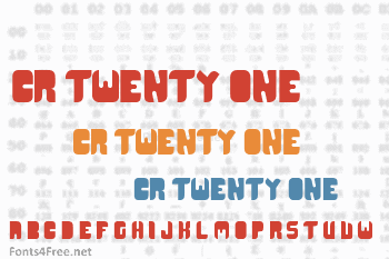 CR21 Type Font