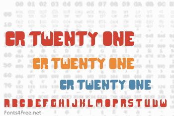 CR21 Type Font