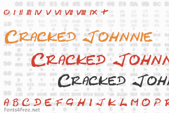 Cracked Johnnie Font