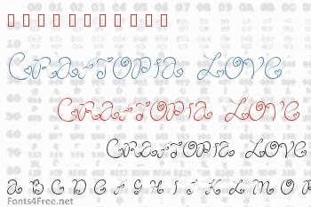 Craftopia Love Font