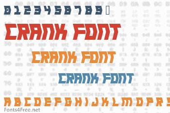 Crank Font