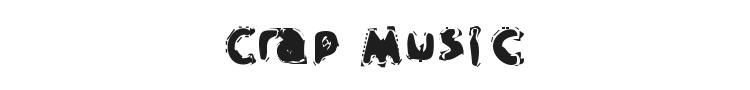 Crap Music Font