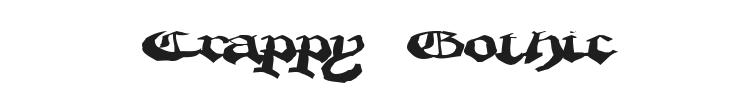 Crappy Gothic Font