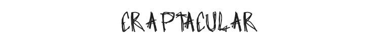 Craptacular Font Preview