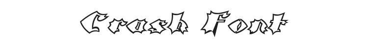 Crash Font Preview