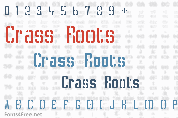 Crass Roots Font