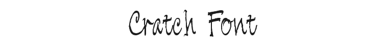 Cratch Font Preview