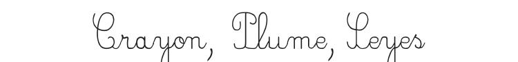 Crayon, Plume, Seyes Font Preview