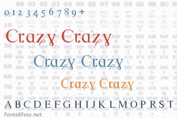 Crazy Crazy Font