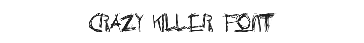 Crazy Killer Font