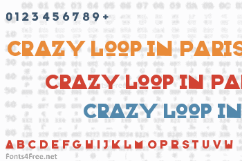 Crazy Loop in Paris Font