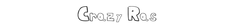 Crazy Ras Font Preview