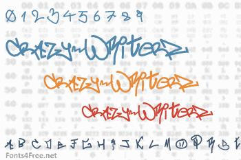 crAzy-WRiterZ Font