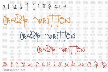 Crazy Written Font