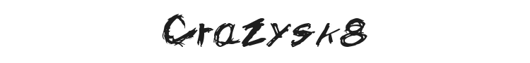 Crazysk8 Font Preview