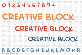 Creative Block Font