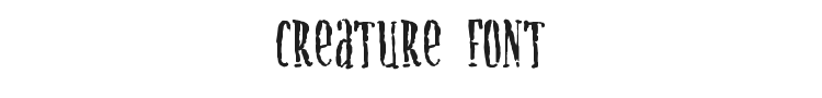 Creature Font Preview