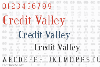 Credit Valley Font