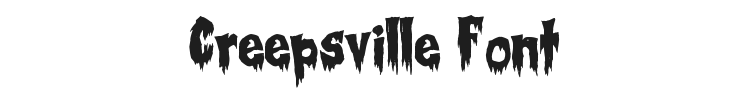 Creepsville Font Preview