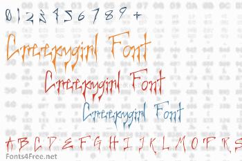 Creepygirl Font