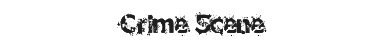 Crime Scene Font Preview