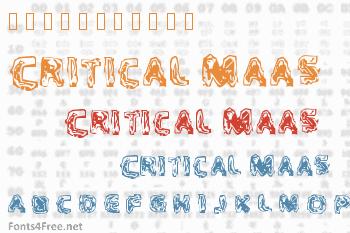 Critical Maas Font