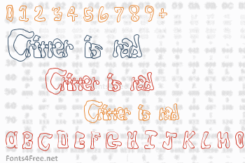 Critter is rad Font