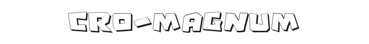 Cro-Magnum Font Preview