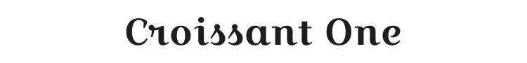 Croissant One Font