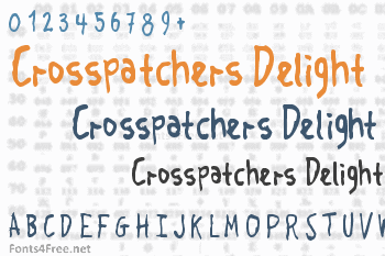 Crosspatchers Delight Font