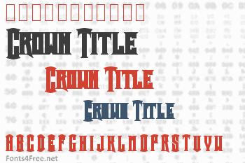 Crown Title Font