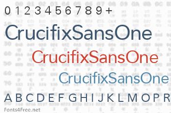 CrucifixSansOne Font