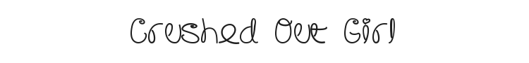 Crushed Out Girl Font Preview