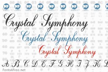 Crystal Symphony Font