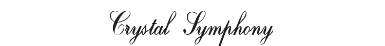 Crystal Symphony Font Preview